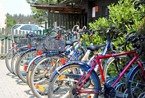 Fahrräder auf dem Christinenhof