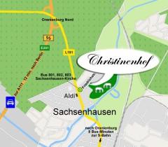 Die Anfahrt zu unserer Reitschule in Oranienburg, nur 12 Autominuten von Berlin